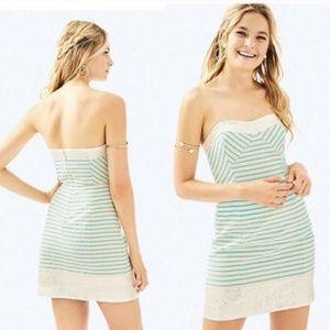 LP Blue Horizon Bayview Stripe Remi Dress Sz 12